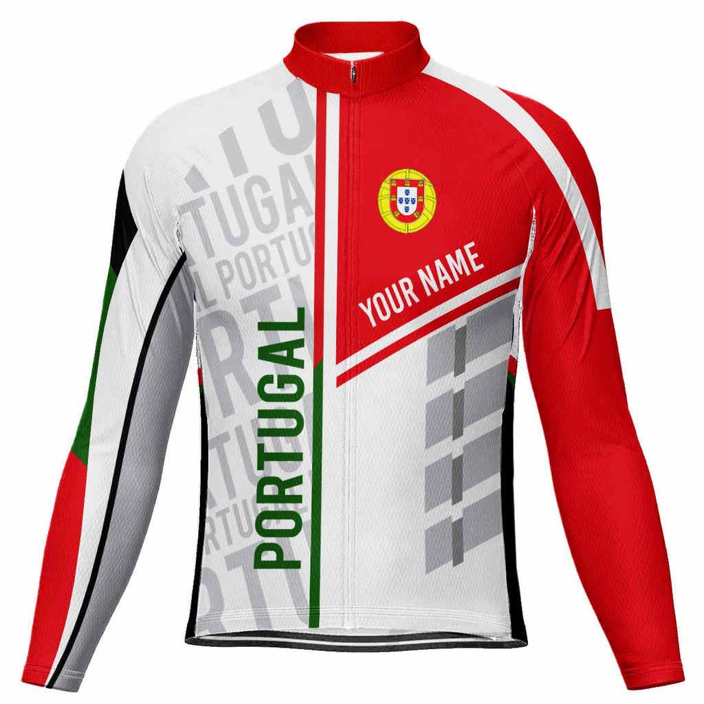 Customized Portugal Long Sleeve Cycling Jersey for Men
