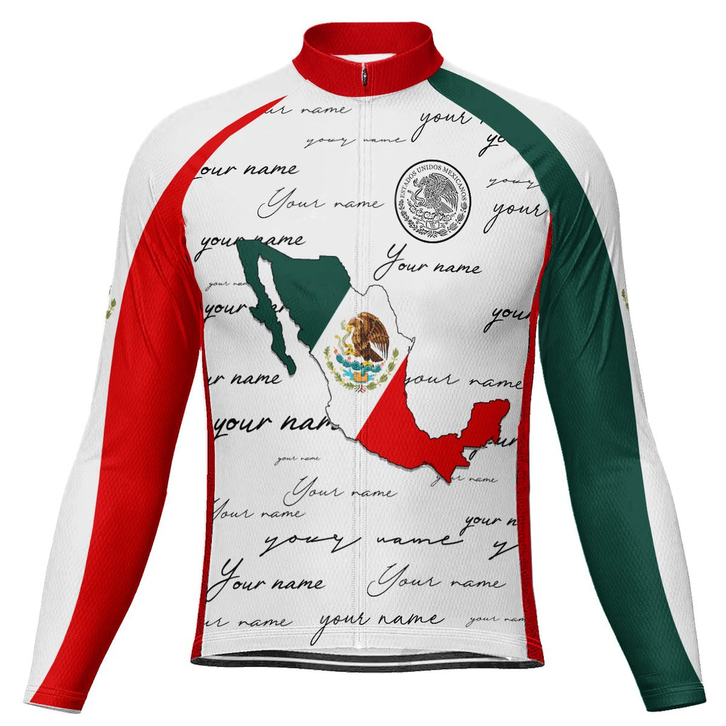 Customized Mexico Winter Thermal Fleece Long Sleeve For Men