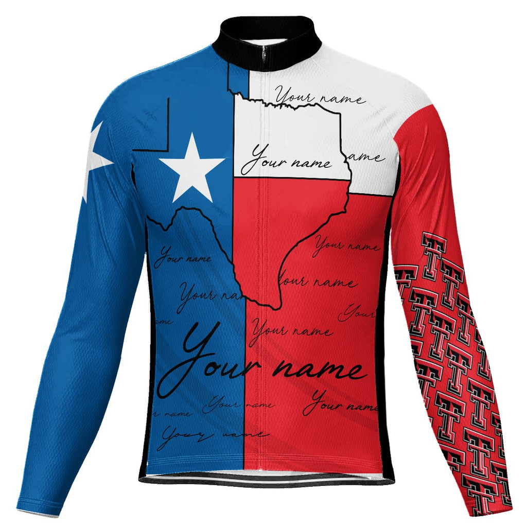 Customized Texas Winter Thermal Fleece Long Sleeve For Men