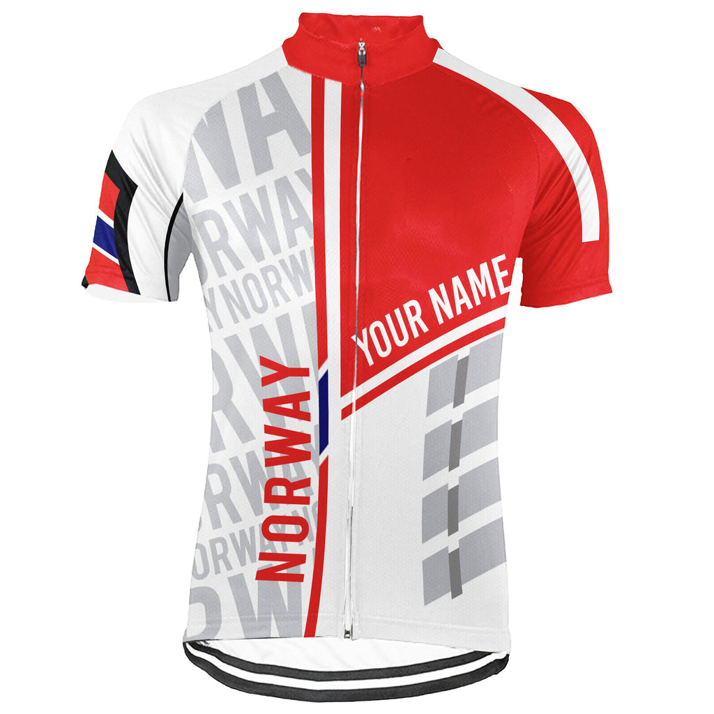 Customized Norway Short Sleeve Cycling Jersey for Men