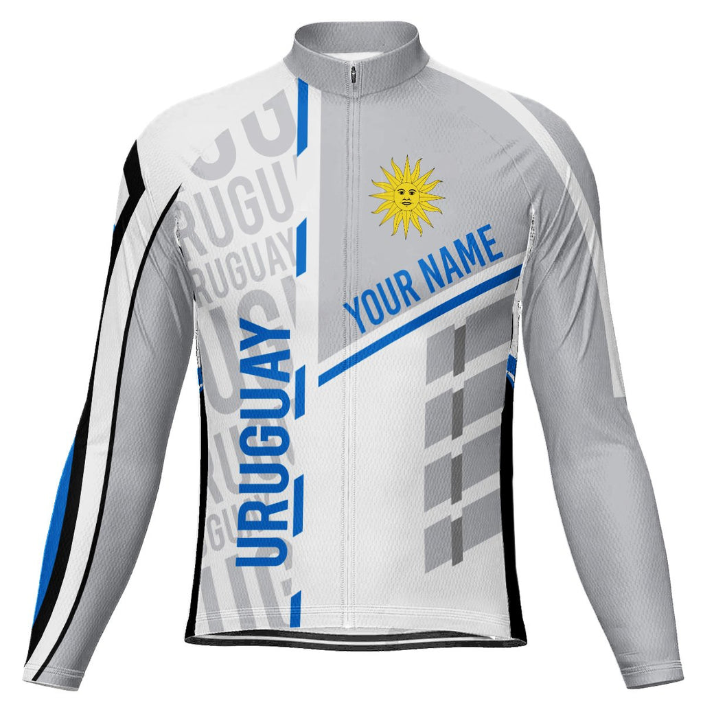 Customized Uruguay Long Sleeve Cycling Jersey for Men
