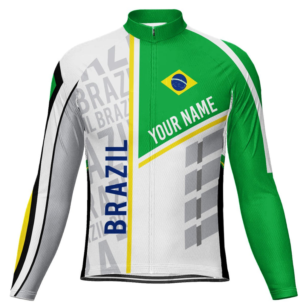 Customized Brazil Long Sleeve Cycling Jersey for Men