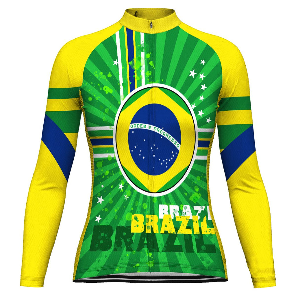 Customized Brazil Long Sleeve Cycling Jersey for Women