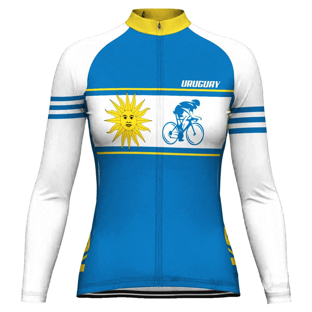 Customized Uruguay Long Sleeve Cycling Jersey for Women
