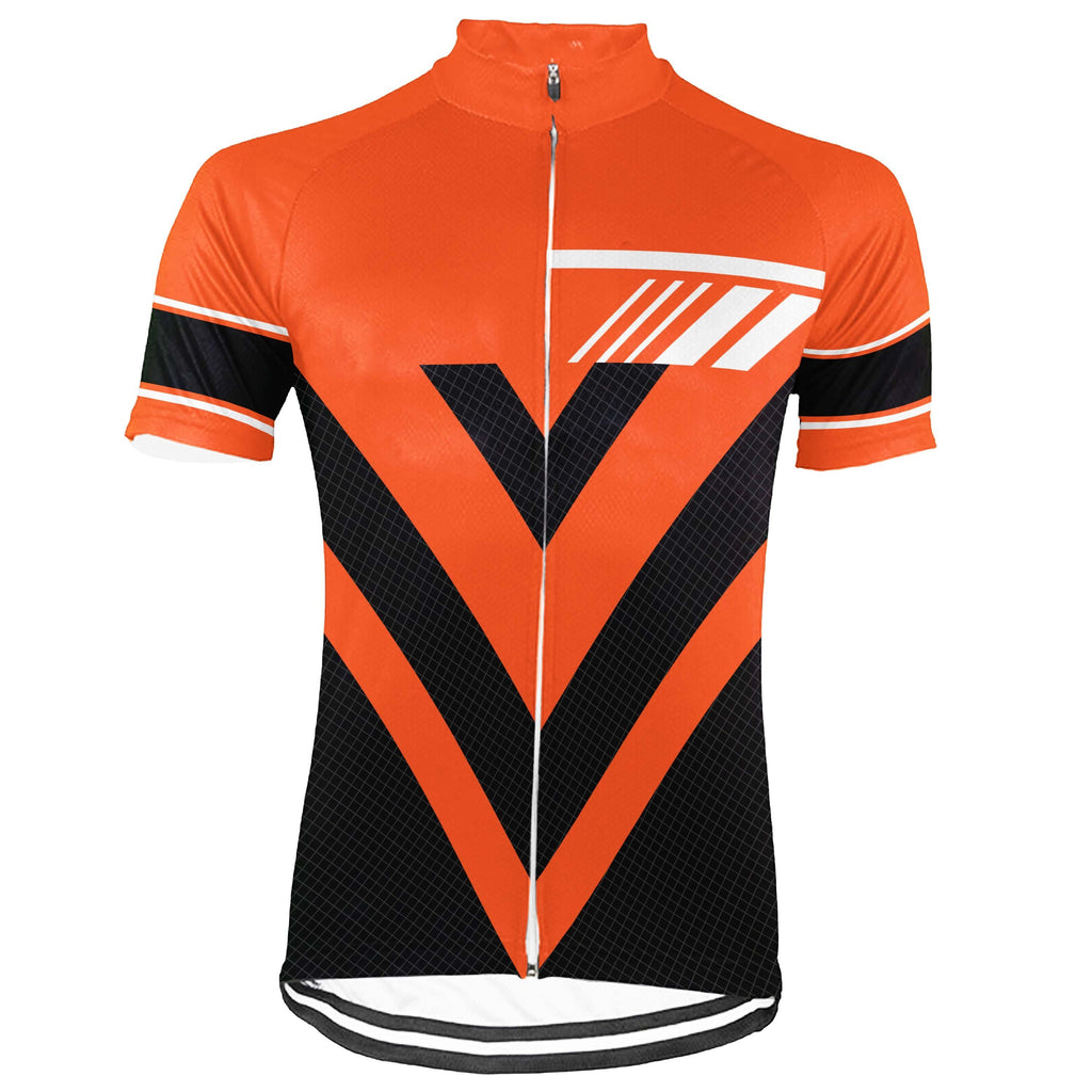 Orange Short Sleeve Cycling Jersey for Men