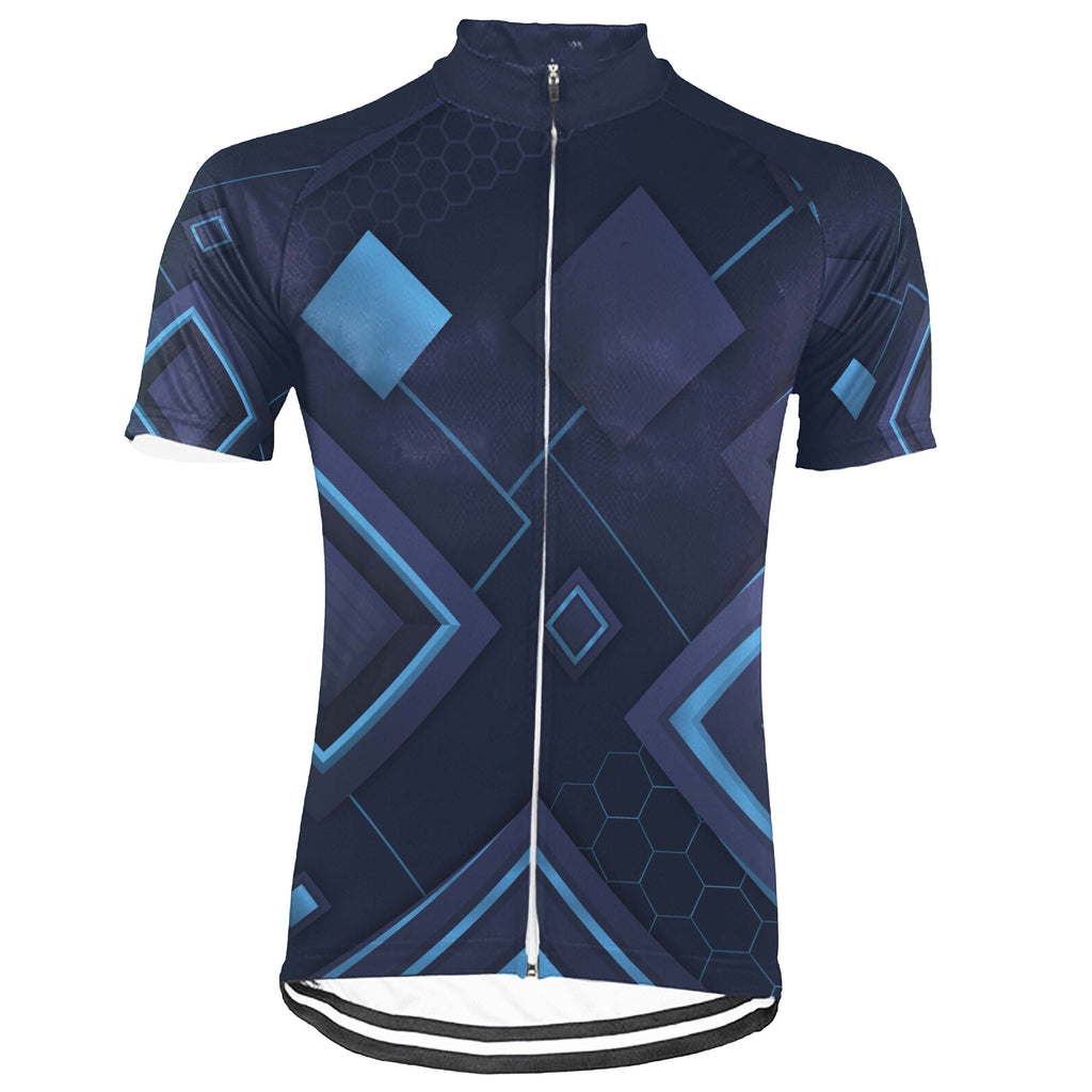Navy Short Sleeve Cycling Jersey for Men