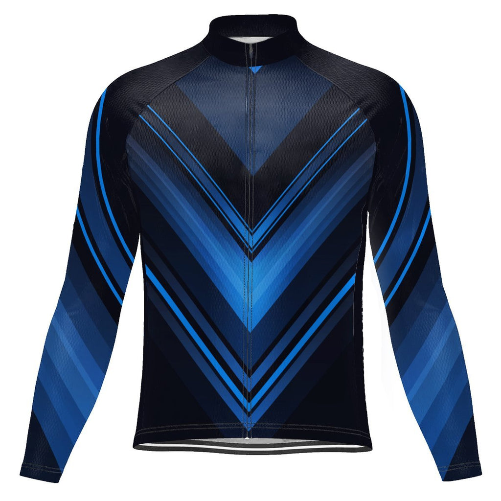 Navy Long Sleeve Cycling Jersey for Men