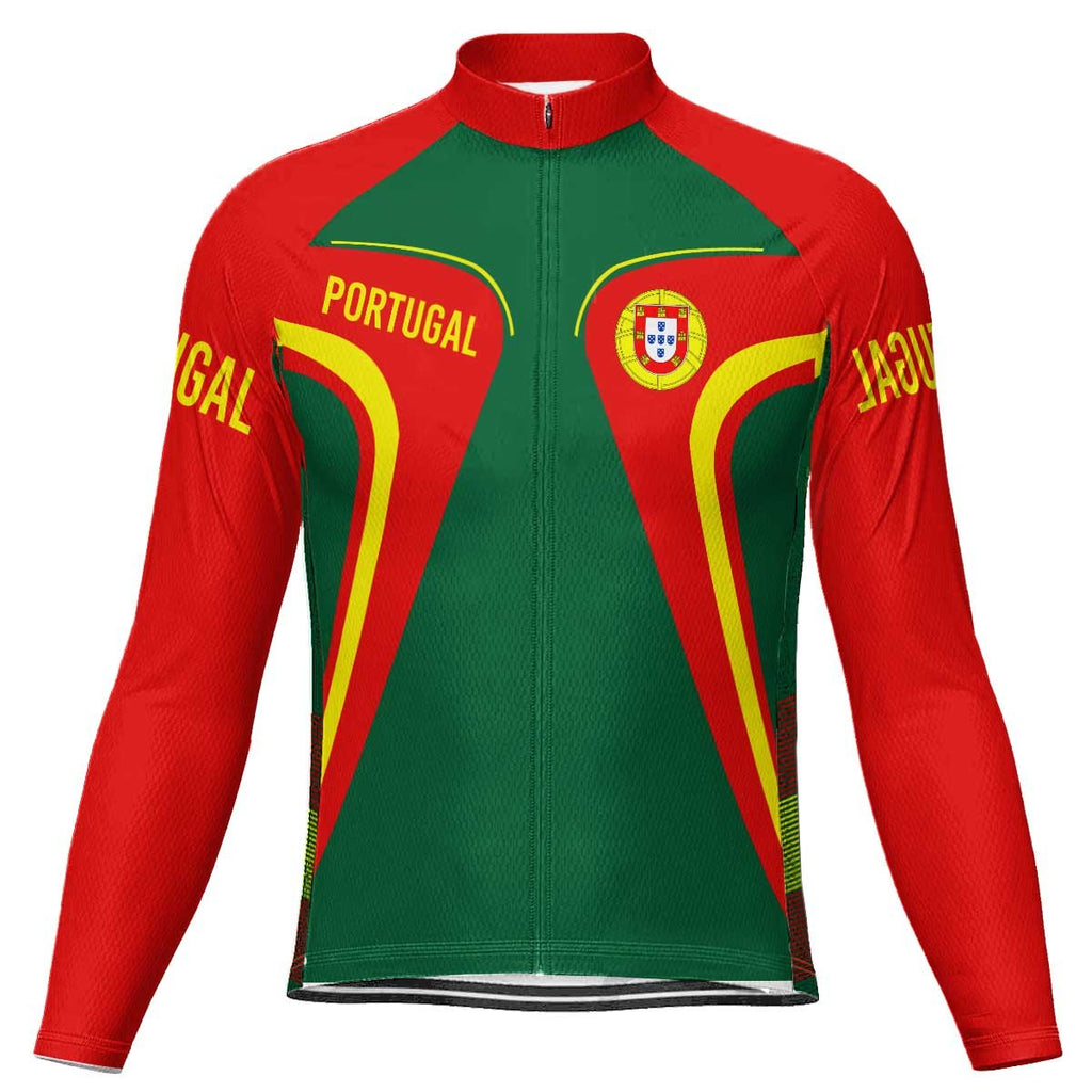 Portugal Long Sleeve Cycling Jersey for Men