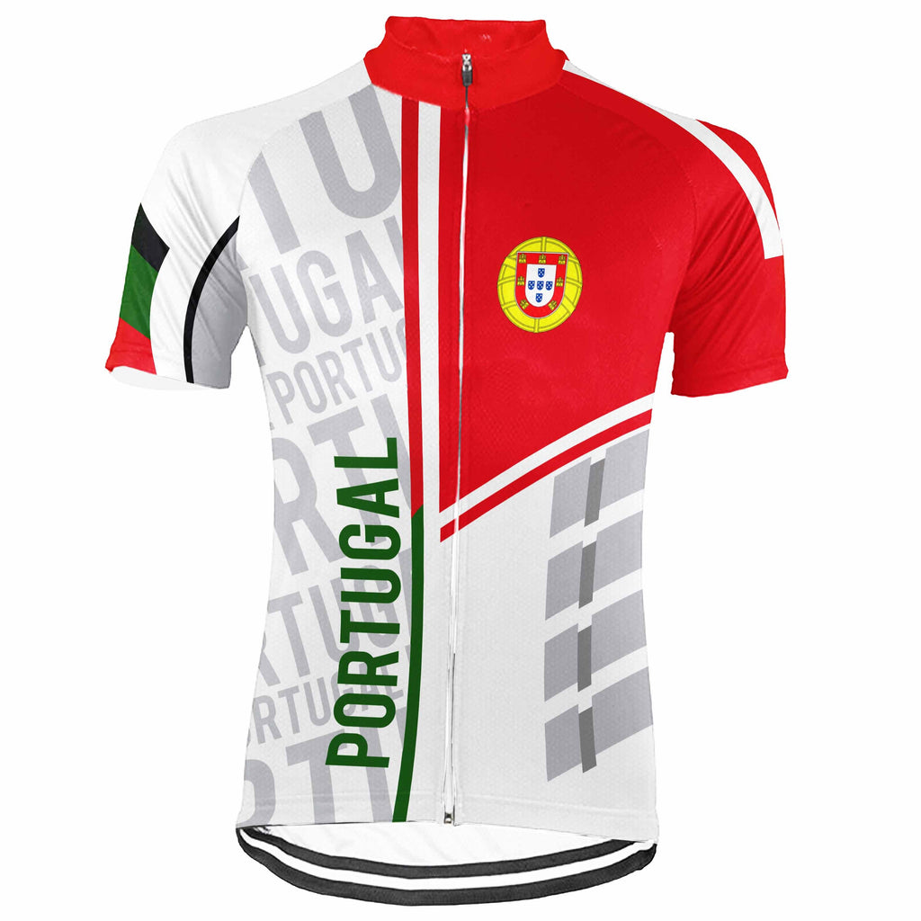 Portugal Short Sleeve Cycling Jersey for Men