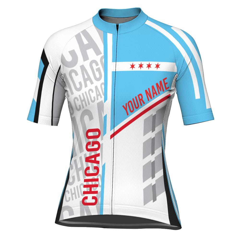 Customized Chicago Short Sleeve Cycling Jersey for Women