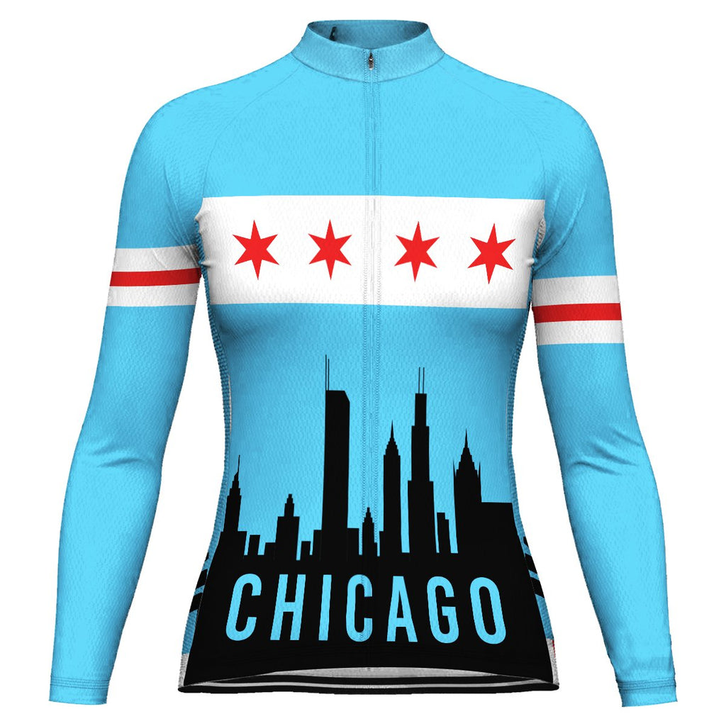 Customized Chicago Long Sleeve Cycling Jersey for Women