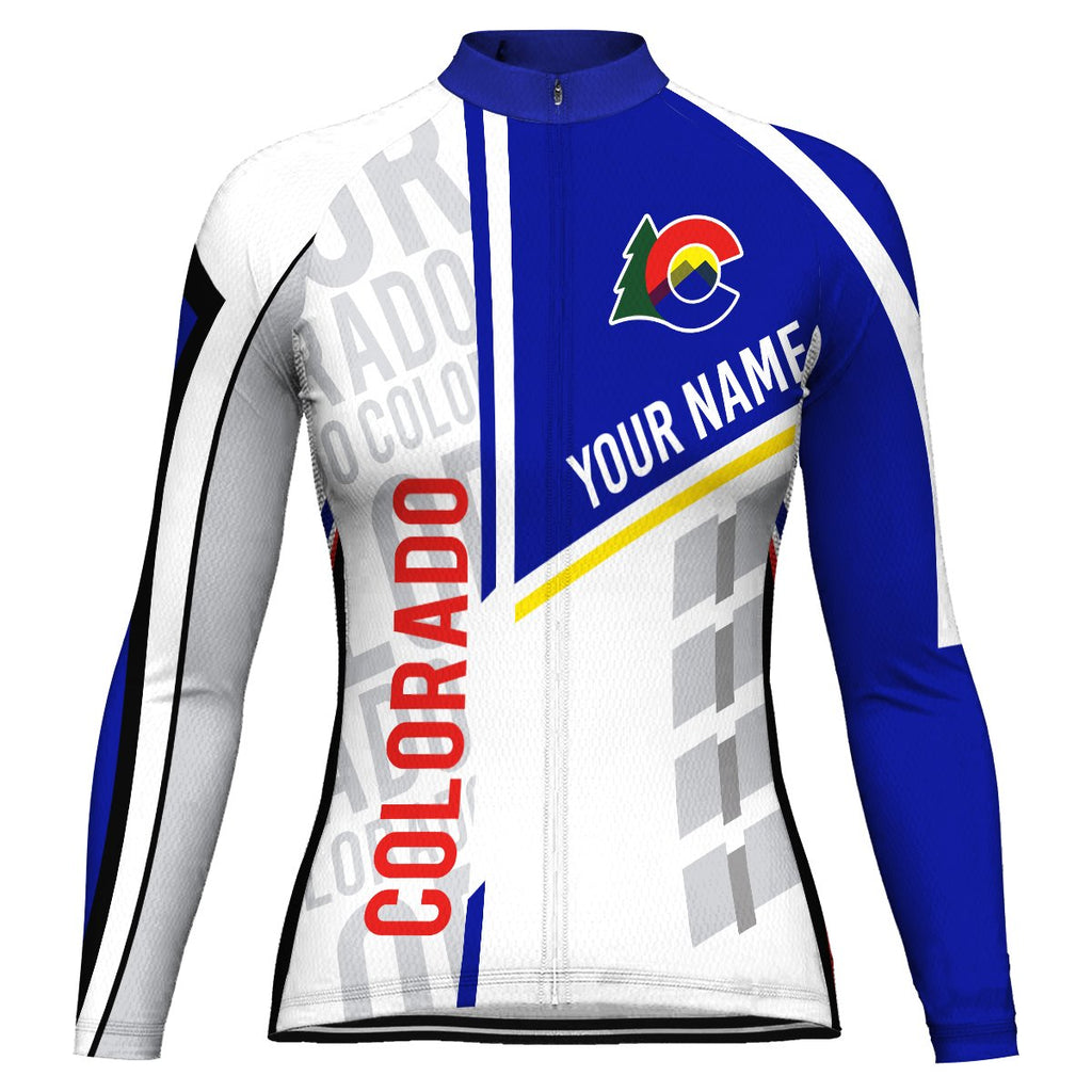 Customized Colorado Long Sleeve Cycling Jersey for Women