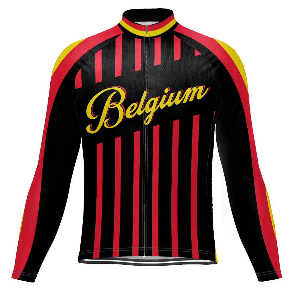Belgium Long Sleeve Cycling Jersey for Men