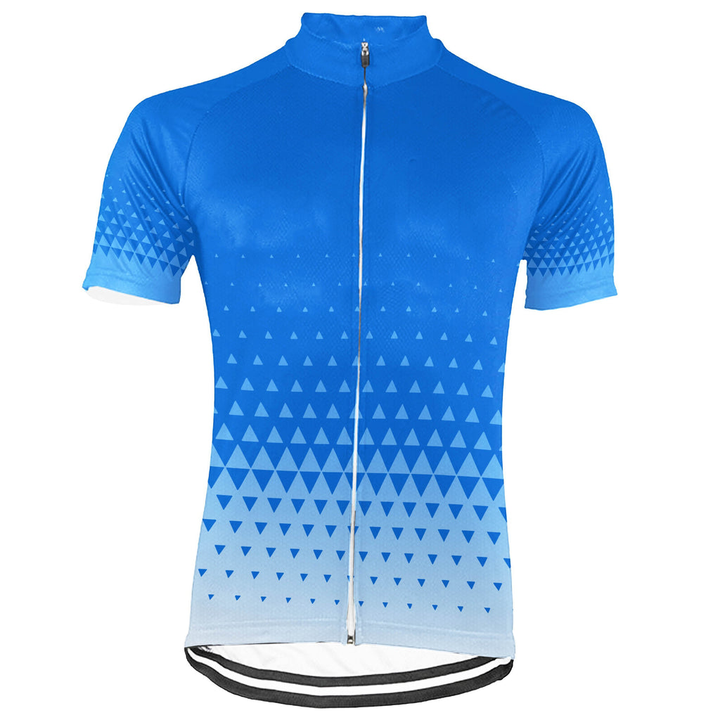 Blue Short Sleeve Cycling Jersey for Men