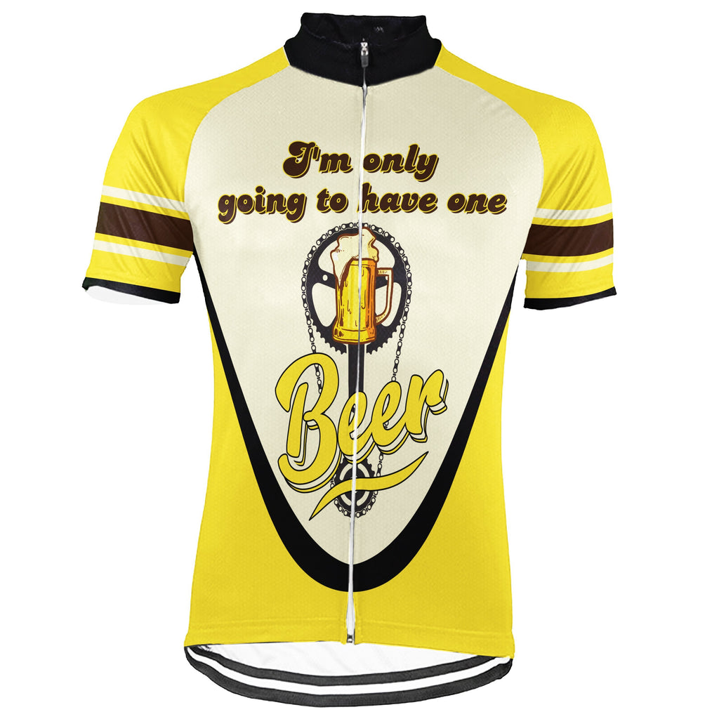 Beer Short Sleeve Cycling Jersey for Men