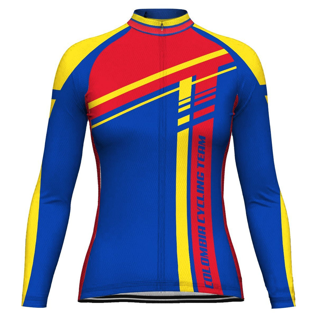Colombian Long Sleeve Cycling Jersey for Women