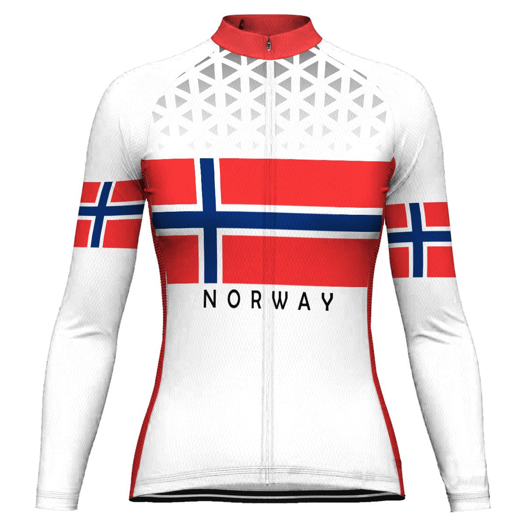 Customized Norway Long Sleeve Cycling Jersey for Women