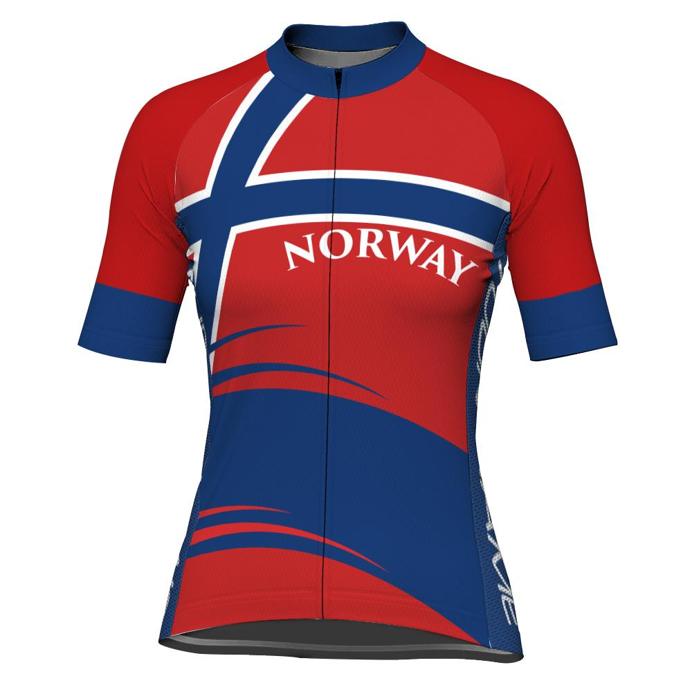 Customized Norway Short Sleeve Cycling Jersey for Women