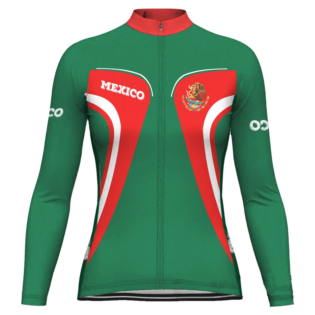 Customized Mexico Long Sleeve Cycling Jersey for Women