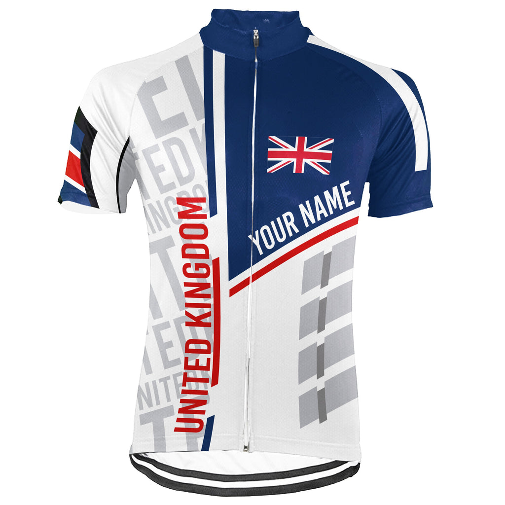Customized Uk Short Sleeve Cycling Jersey for Men