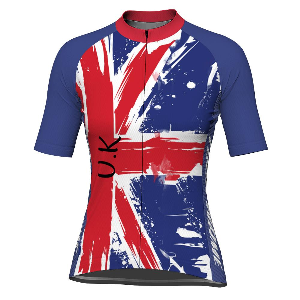 Customized Uk Short Sleeve Cycling Jersey for Women