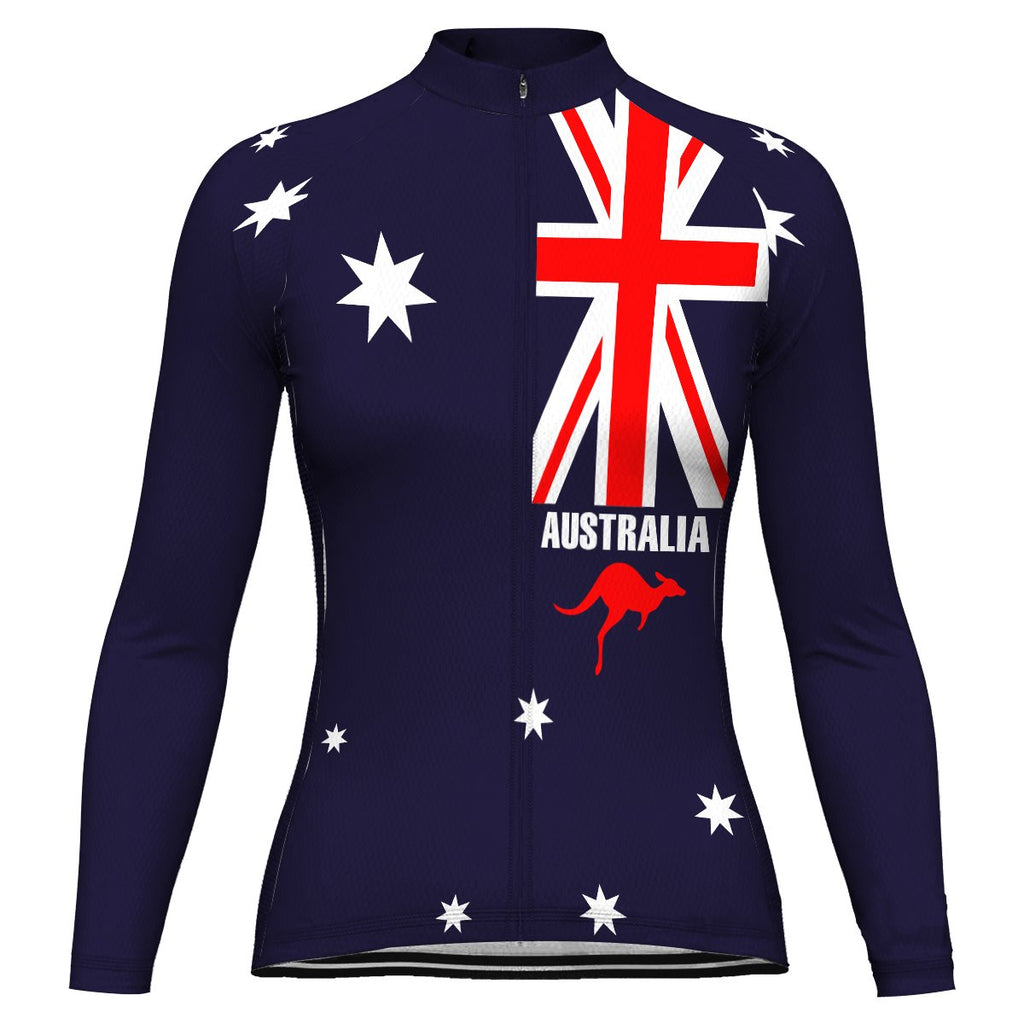 Australia Long Sleeve Cycling Jersey for Women