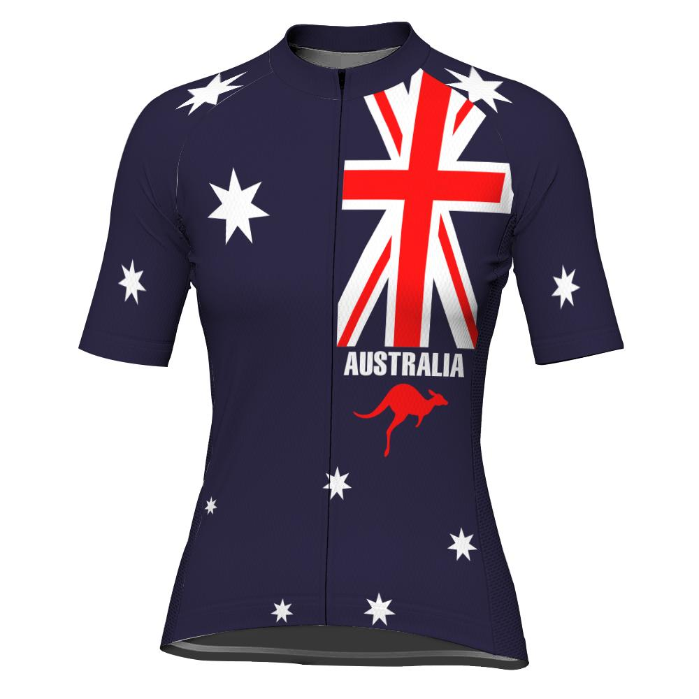 Australia Short Sleeve Cycling Jersey for Women