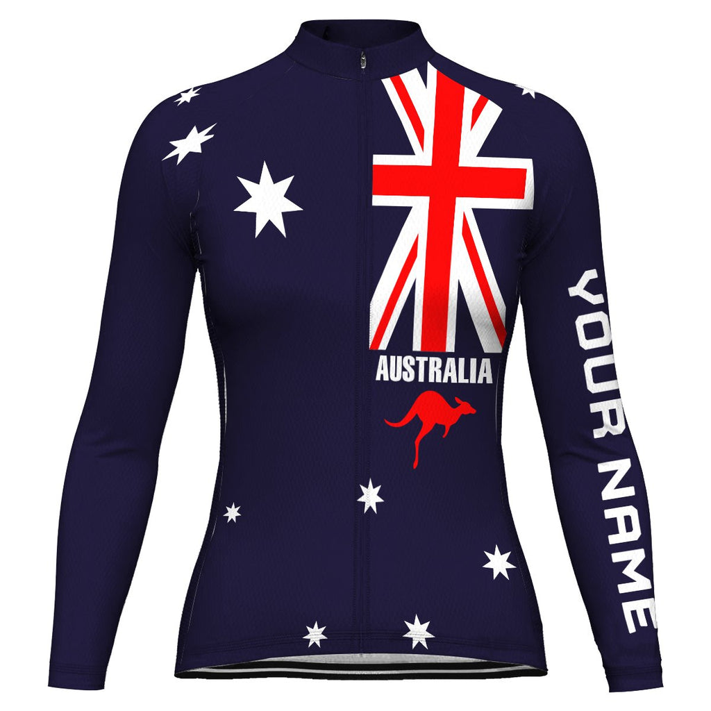 Customized Australia Long Sleeve Cycling Jersey for Women