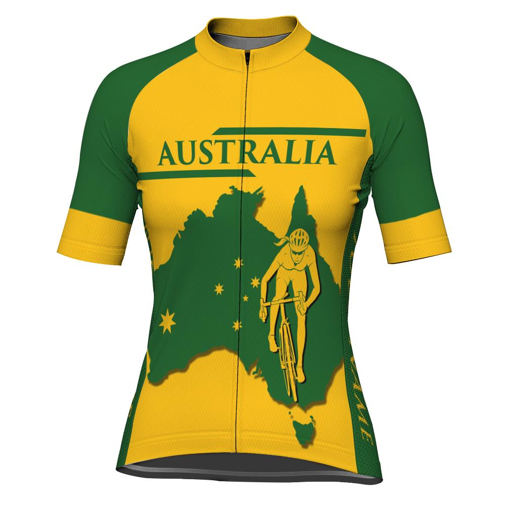 Customized Australia Short Sleeve Cycling Jersey for Women
