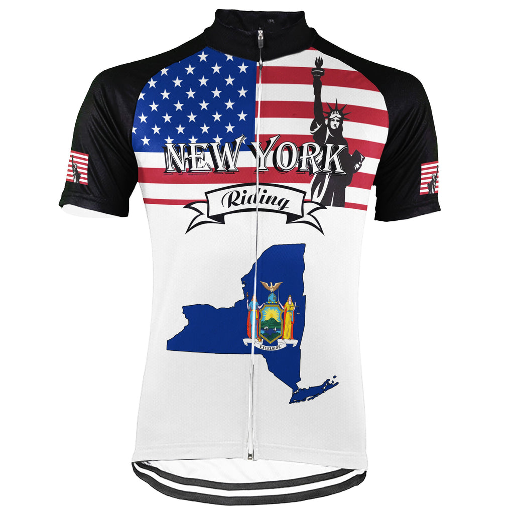 Customized New York Short Sleeve Cycling Jersey for Men