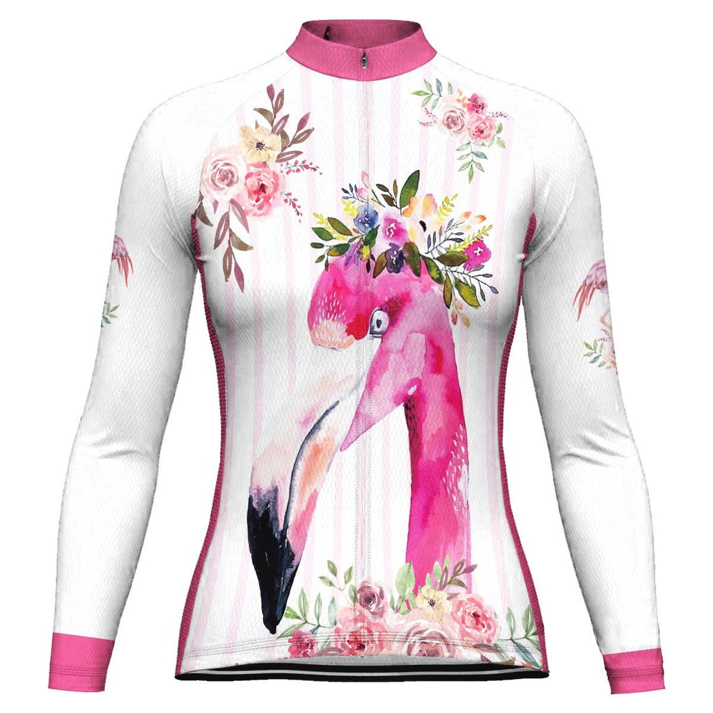 Flamingo Long Sleeve Cycling Jersey for Women