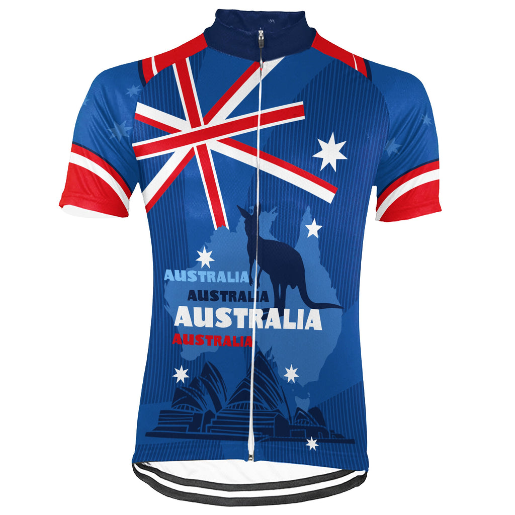 Australia Short Sleeve Cycling Jersey for Men