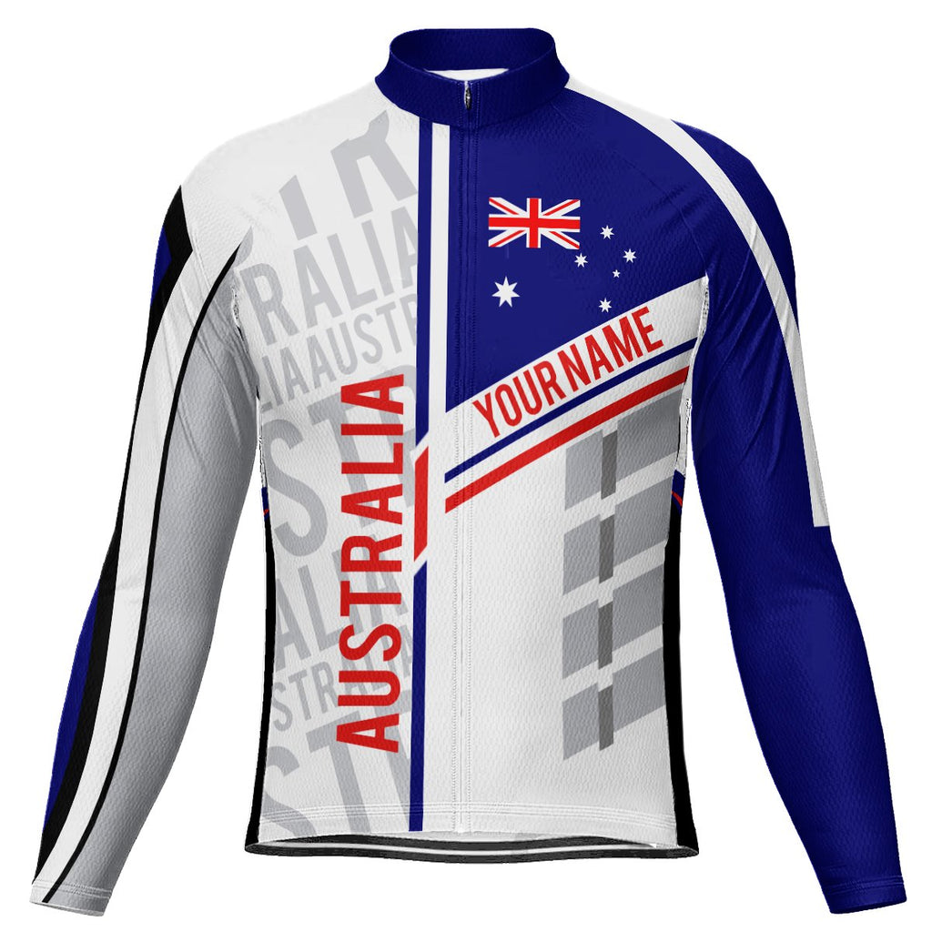 Customized Australia Long Sleeve Cycling Jersey for Men