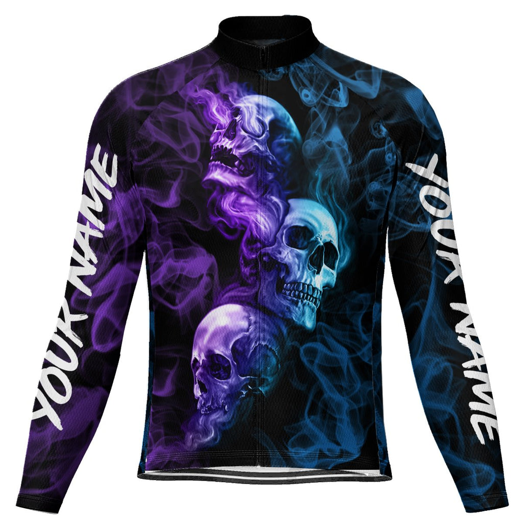 Customized Skull Long Sleeve Cycling Jersey for Men