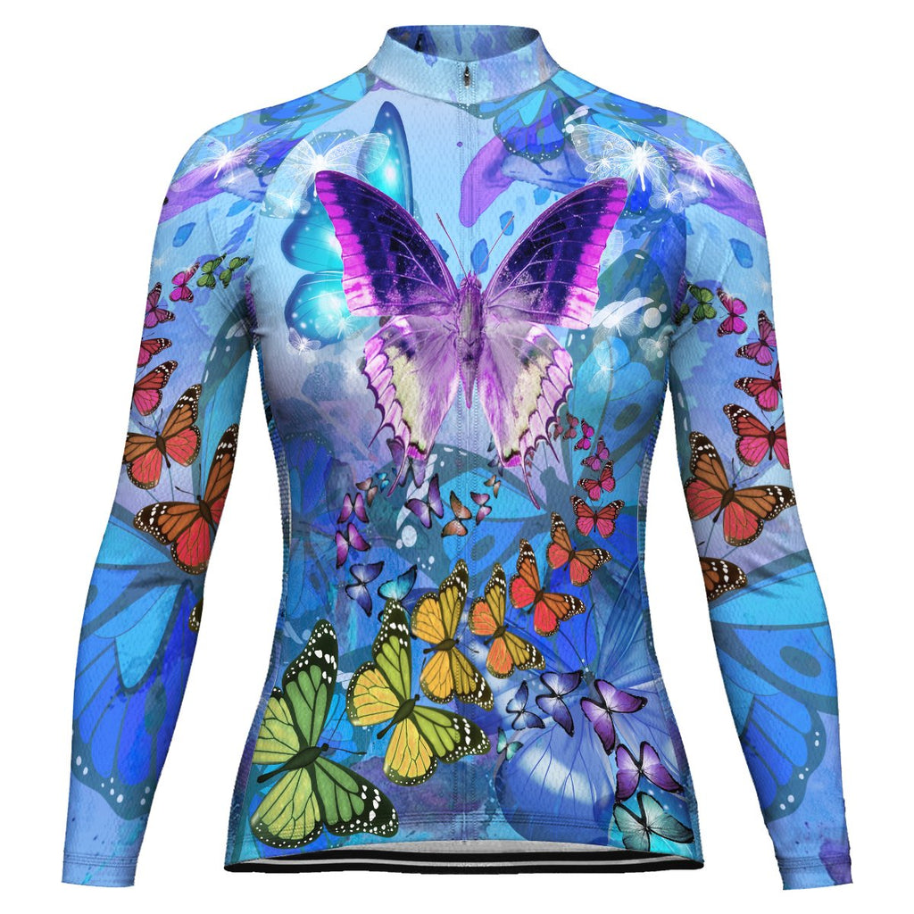 Butterfly Long Sleeve Cycling Jersey for Women