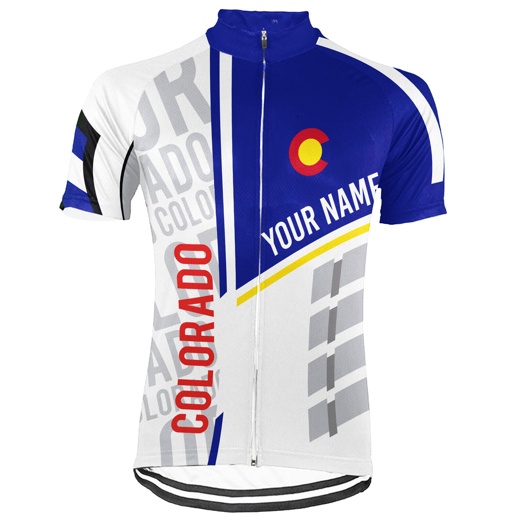 Customized Colorado Short Sleeve Cycling Jersey for Men