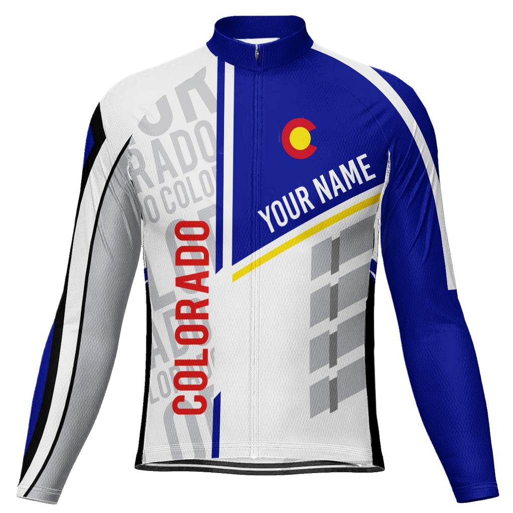 Customized Colorado Long Sleeve Cycling Jersey for Men