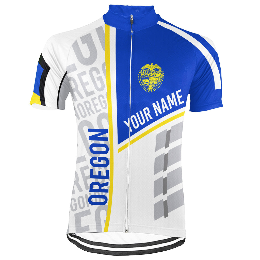 Customized Oregon Short Sleeve Cycling Jersey for Men
