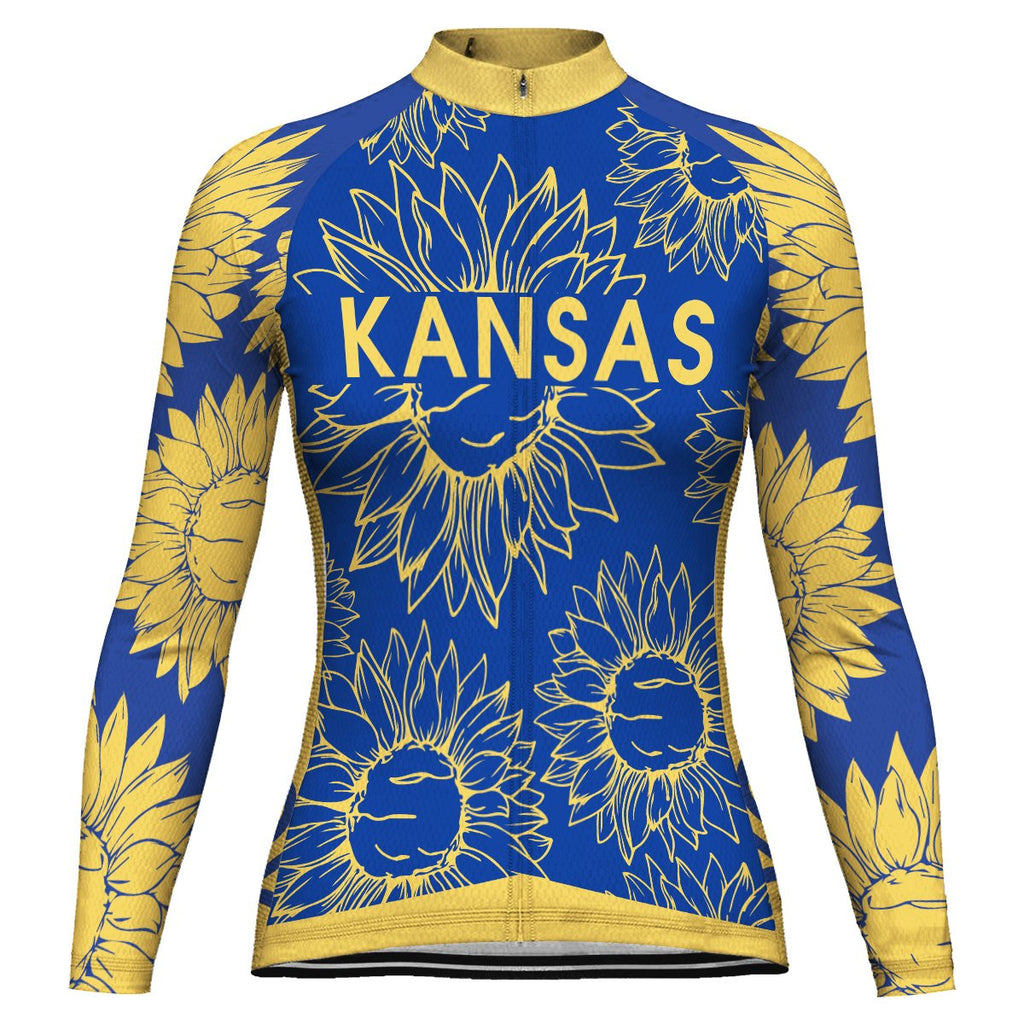 Customized Kansas Long Sleeve Cycling Jersey for Women