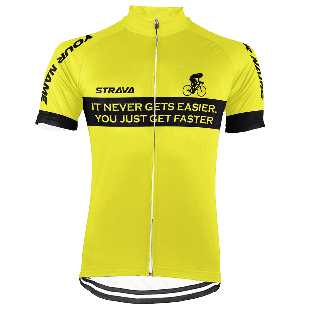 Customized Strava Short Sleeve Cycling Jersey for Men