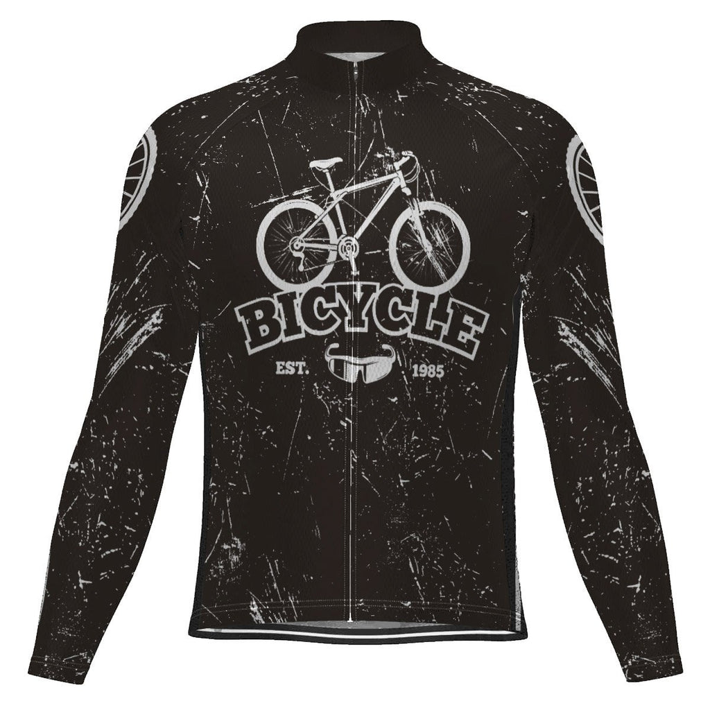 Vintage Long Sleeve Cycling Jersey for Men