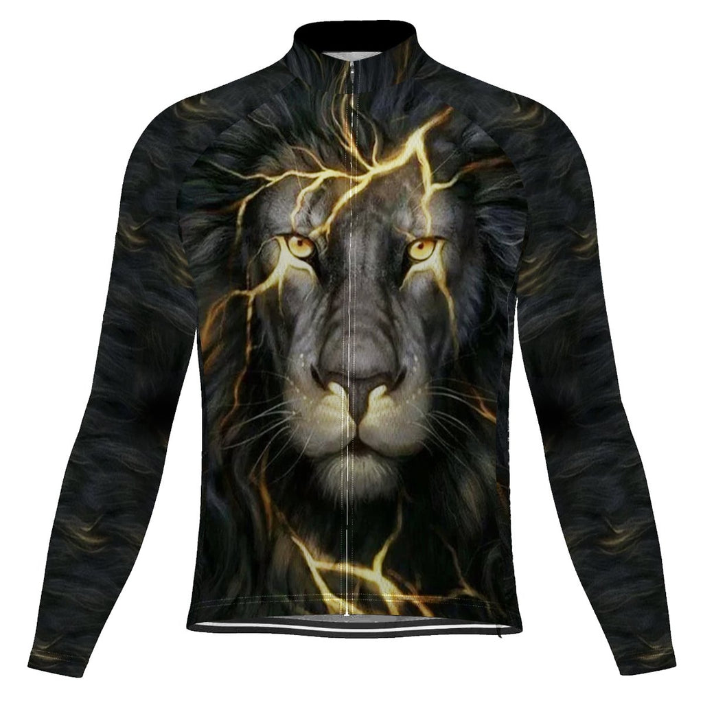 Lion Long Sleeve Cycling Jersey for Men