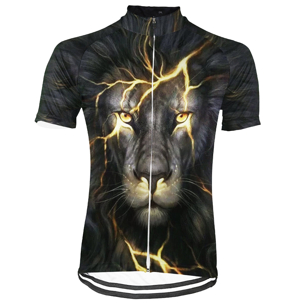 Lion Short Sleeve Cycling Jersey for Men