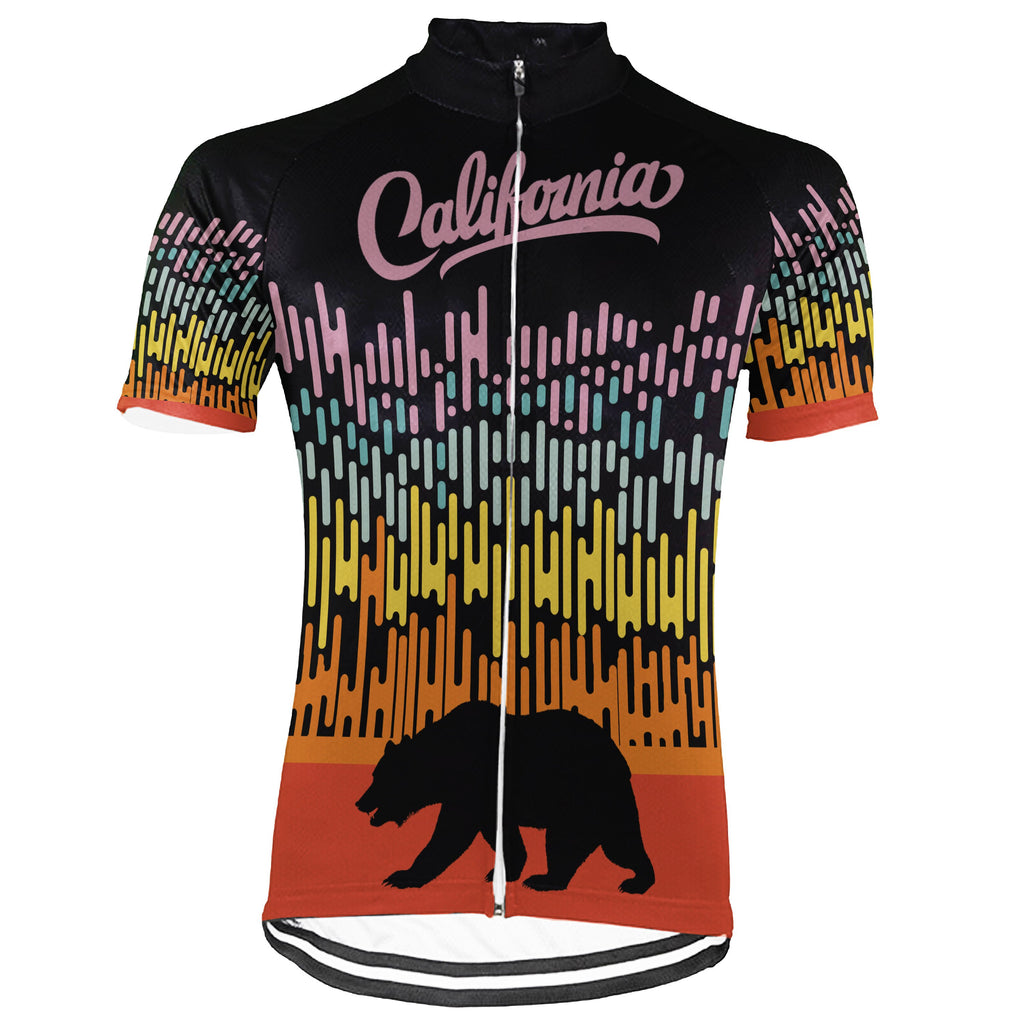 Customized California Short Sleeve Cycling Jersey for Men