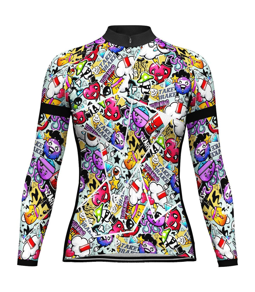 Crazy Long Sleeve Cycling Jersey for Women
