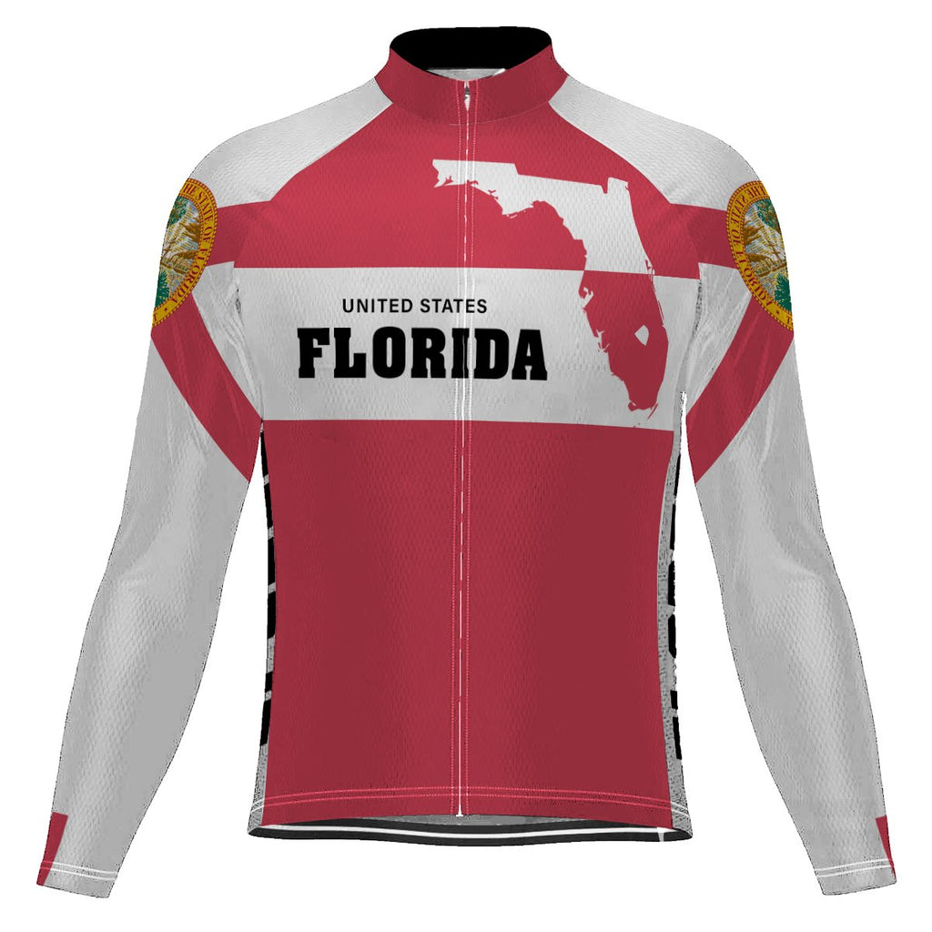 Florida Long Sleeve Cycling Jersey for Men