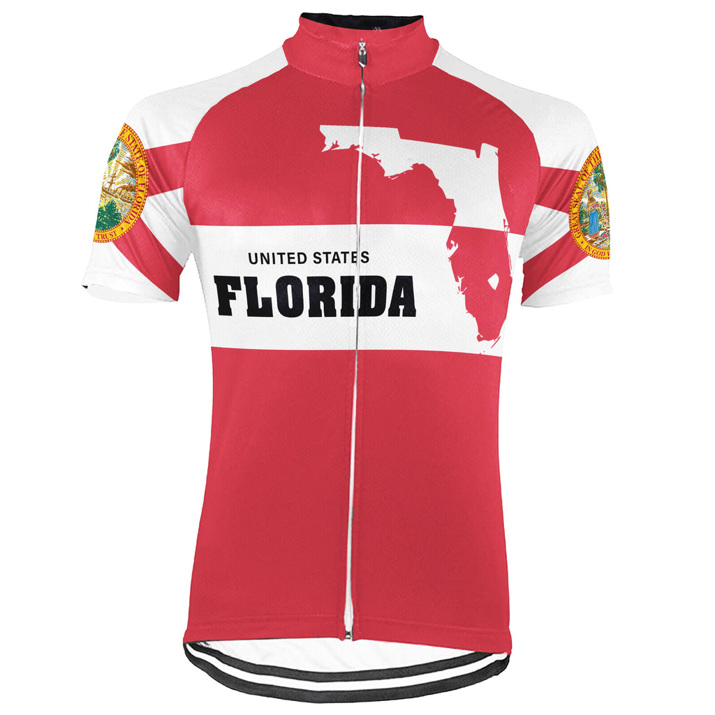 Florida Short Sleeve Cycling Jersey for Men