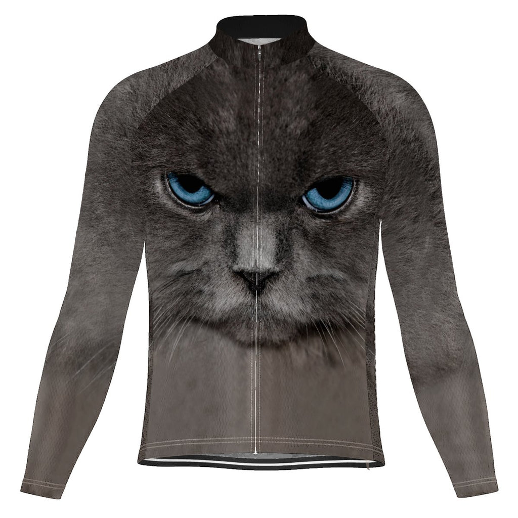 Colorful Cat Long Sleeve Cycling Jersey for Men