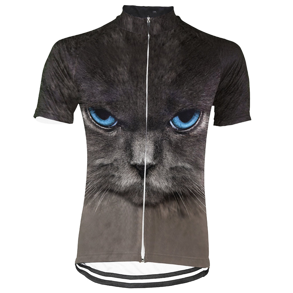 Colorful Cat Short Sleeve Cycling Jersey for Men