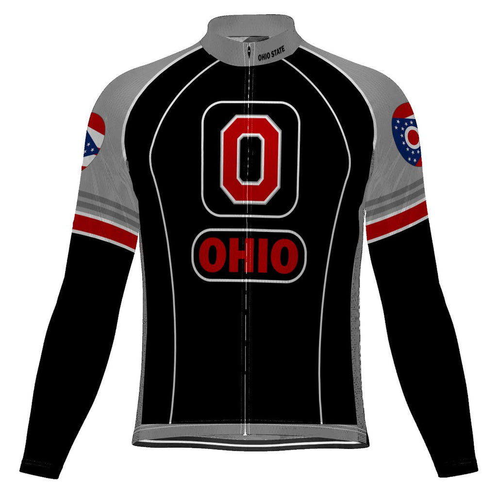 Ohio State Long Sleeve Cycling Jersey for Men